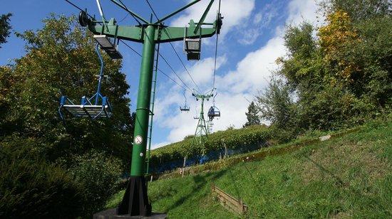 Sesselbahn in Boppard: Climbing up