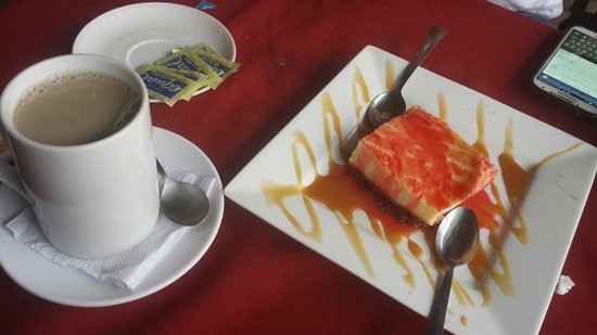 Hotel Monte Campana: Cheesecake (their version)