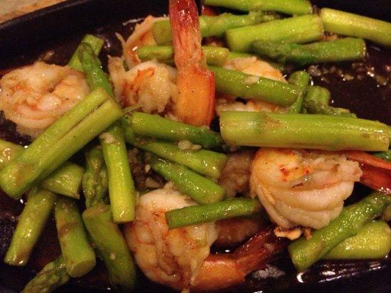 Hua Hin Seaside Restaurant : Asparagus with shrimps