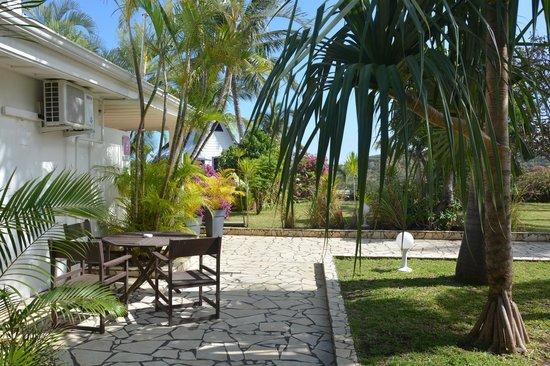 Le Saint Michel: Jardins de l'hotel