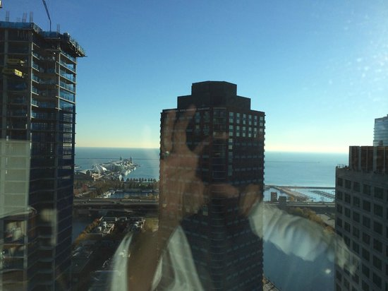 Sheraton Grand Chicago: View from my room.