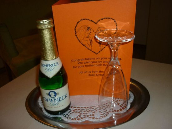 Hotel Uhland: A Little gift from hotel staff to our Honeymoon