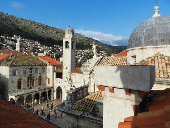 Vista de Dubrovnik, desde o meu apartamento em Studio Stradun.