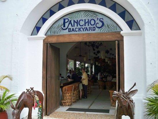 Pancho's Backyard entrance!
