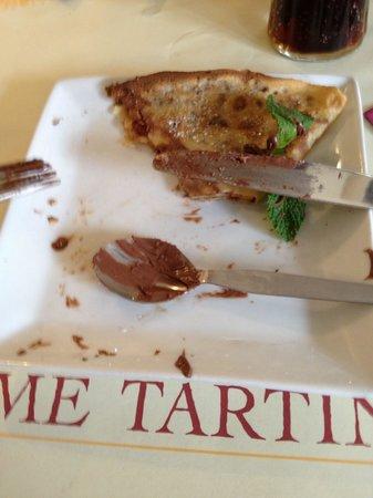 Dame Tartine: Les crêpes chocolat. C'etait trés Bon.