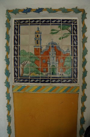 The Hacienda: Talavera tile near Tower Room C
