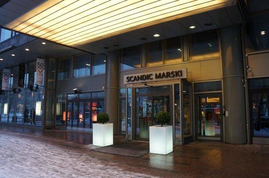 Scandic Marski: Вход в гостиницу