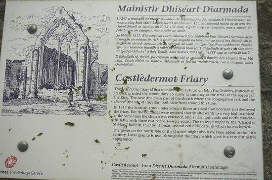 Castledermot Round Tower: Sign @ Castledermot Friary