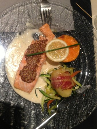 Chez Adrien : Saumon à la moutarde à l'ancienne