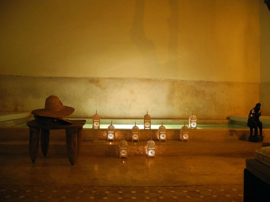Riad 144 Marrakech : Patio Abend