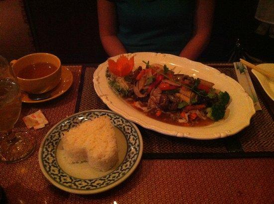 Duck in garlic sauce at Ploy Thai, Brandon, Fl