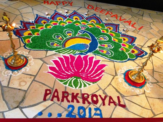 PARKROYAL Penang Resort, Malaysia: Decoration for Deepavali Open House. Great fun!