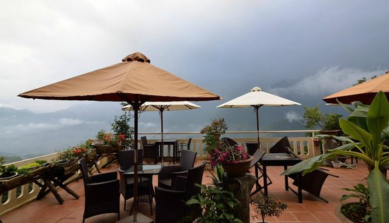The terrace of the H'Mong Sapa Hotel