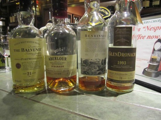 Highlander Inn: just 4 of the 400 whiskies available!