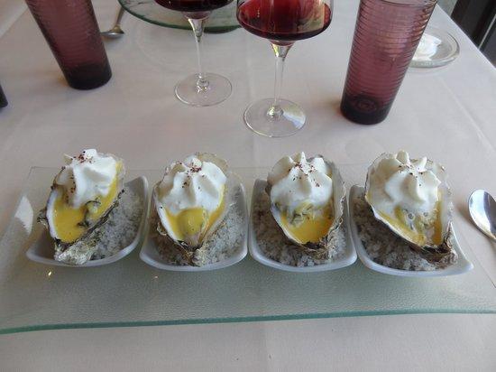 L'Eventail des saveurs : Huitres tièdes en sabayon