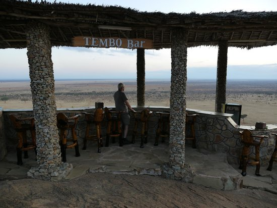 Voi Safari Lodge: Tempo bar - amazing view