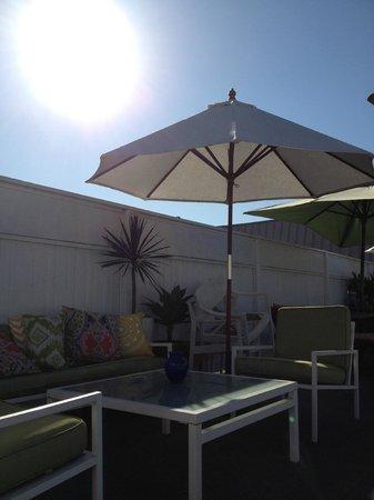 Hotel Beverly Terrace : Tagterassen