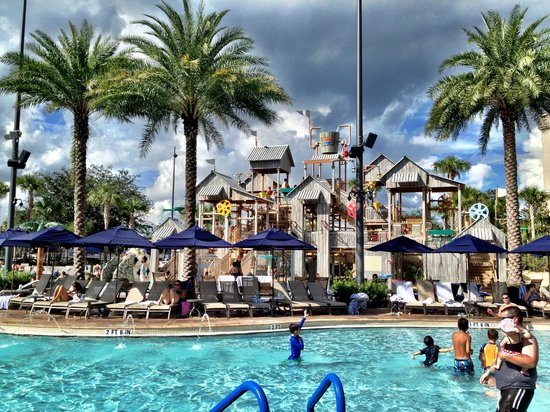 Kids pool picture of gaylord palms resort convention for Pool show orlando florida