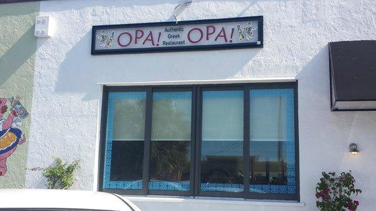 Opa! Opa! Authentic Greek Restaurant : OPA! OPA! SIGN