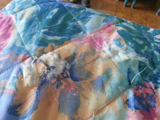 Hotel on the Cay: bedding  ripped.