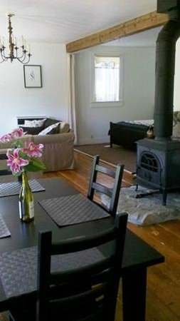 Hartman Inn: Carriage House:  Warm yourself by the fire