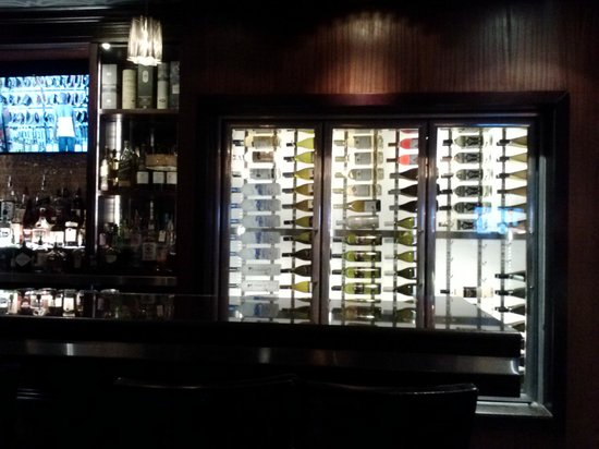 Martini's Restaurant: View of the Beverage cooler from my table.