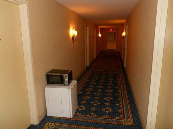 Houston Marriott Westchase : Junk in the corridor