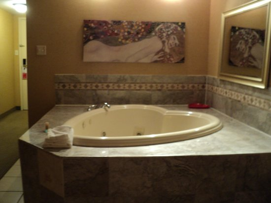 Gateway Hotel Dallas: no steps to jacuzzi
