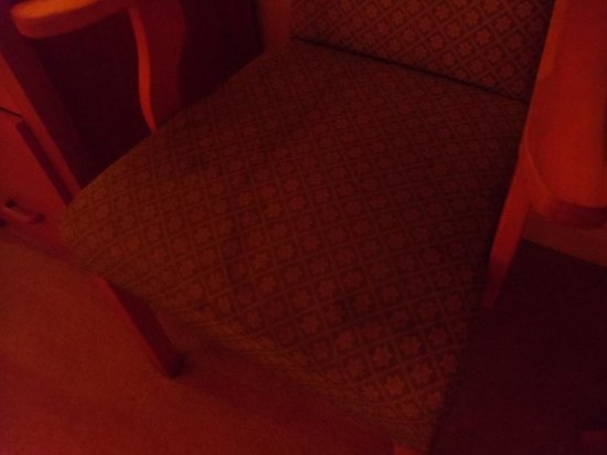 Hotel Castlepollard: Stains on room chair!