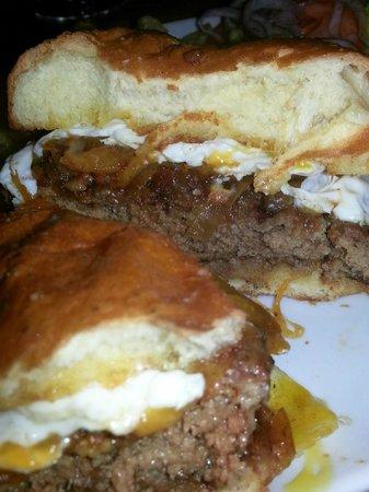 WG Kitchen and Bar: Farm Burger (not Medium as I ordered) - crazy good