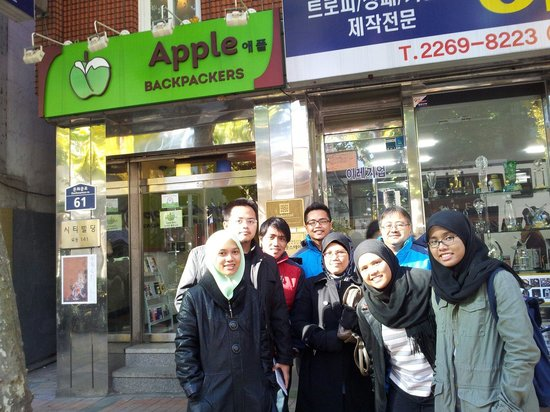 Apple Backpackers Guesthouse: Infront Apple Backerpackers Hotel, Seoul