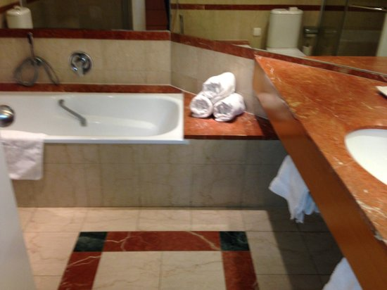 David Dead Sea Resort & Spa : Our best bathroom (a huge shower is to the left)