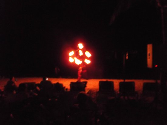 Sunscape Sabor Cozumel: Fire Show.. Not to be Missed