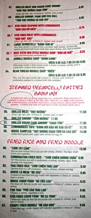 Hon's House of Noodles: Pho Hon, Cranston, RI Menu 7 by Godenar