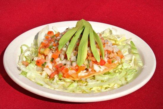 Las Brasas Mexican Restaurant: Tostada de Ceviche