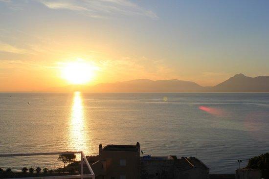La Caletta: sunrise from the terrace