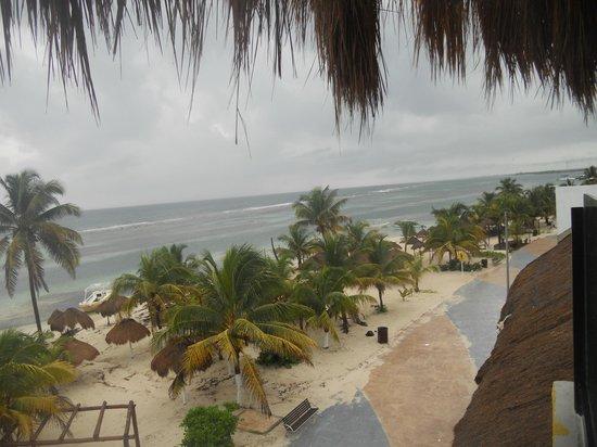 Cafe Karlita's: View of Malecon and beach from Korlita's