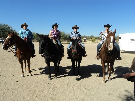 Tombstone Monument Ranch: Ready for the trail ride.