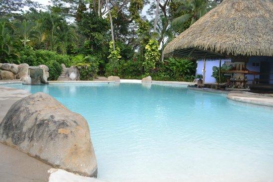 Bahia del Sol Beach Front Boutique Hotel: La piscina (bar húmedo a la derecha)
