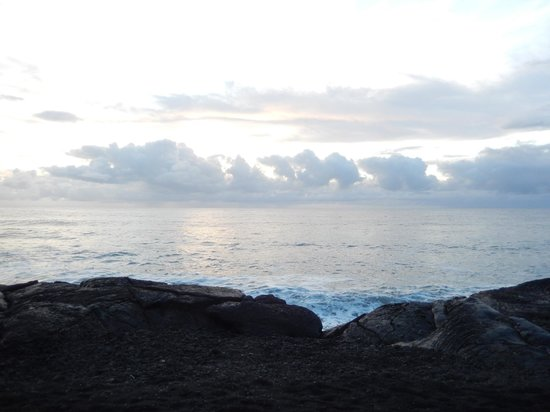 Ma'ukele Lodge: View from the lava in front of the house