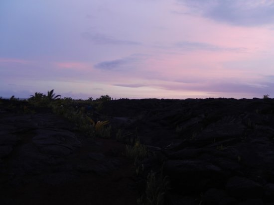 Kaimu, Гавайи: Sunset from the Lava Beach
