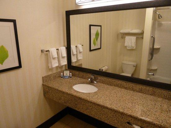 Fairfield Inn & Suites Strasburg Shenandoah Valley: Spacious bathroom