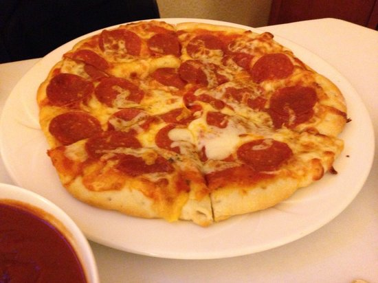 InterContinental Mark Hopkins San Francisco: Pepperoni pizza room service, salty and expensive