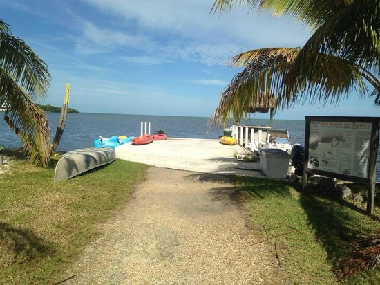Gulf View Waterfront Resort: The view from the dock