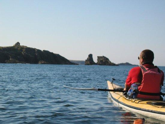 Kayak Sillages : Une des pointes de la côte sauvage