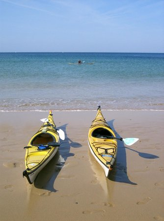 Kayak Sillages : Pause sur la plage