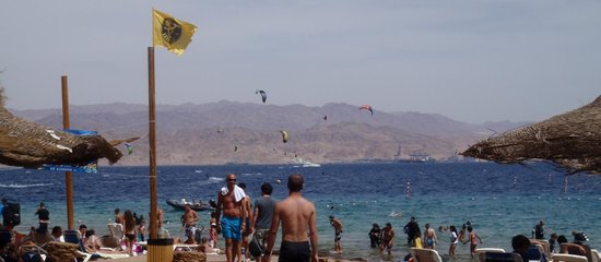 Aquasport : View of the beach and Jordan