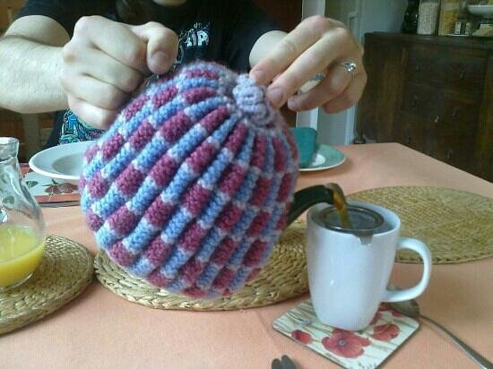 Fern Tor: I love the way you could get a pot of tea to yourselves- complete with handmade knitted cosy!