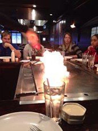 Kobe Japanese Steak & Seafood: Nice and hot by the fire