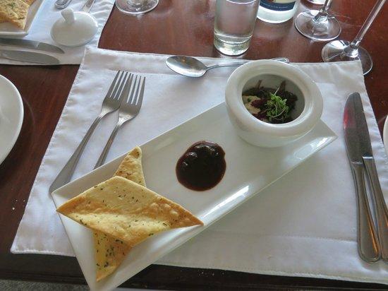 The Restaurant at Clos Malverne: delicious starter